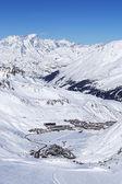 View of Tignes in winter — Stock Photo