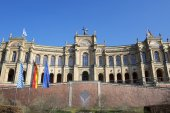 The famous bayerischer landtag — Stock Photo