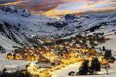 Ski resort in French Alps,Saint jean d'Arves — Stock Photo