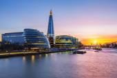New London city hall at sunset — Stock Photo
