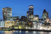Cityscape of London at night — Stock Photo