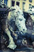Horse of Bartholdi Fountain in Lyon — Stock Photo