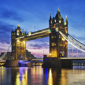 Tower Bridge in the evening — Stock Photo