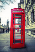 Red phone box — Stock Photo