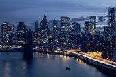 Skyline of downtown New York — Stock Photo