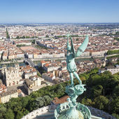 Lyon from the top of Notre Dame de Fourviere — Stock Photo