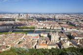 Horizontal view of Lyon — Stock Photo