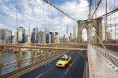 On the Brooklyn Bridge. — Stock Photo