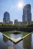 Memorial at World Trade Center Ground Zero — Stock Photo