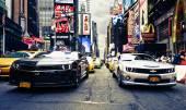 Camaros on Time Square — Stock Photo