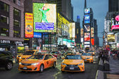 Taxi on Times Square — Stock Photo