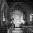 Постер, плакат: St Mary Magdalene church in Tanworth in Arden in black and white