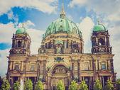Retrò guardare berliner dom — Foto Stock