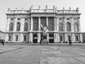 Blanco y negro palazzo madama turín — Foto de Stock