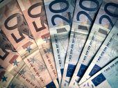 Retro look Euros — Stock Photo
