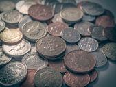 Retro look Pound coins — Stock Photo