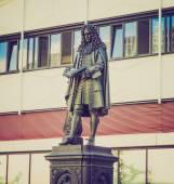 Leibniz Denkmal Leipzig — Stock Photo