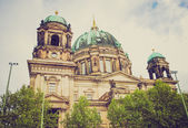 Retro look Berliner Dom — Stock Photo