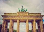 Retro look Brandenburger Tor Berlin — Stock Photo