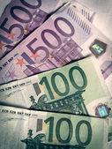 Ретро фотография евро — Стоковое фото