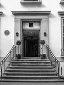 Black and white Abbey Road studios — Stock Photo