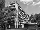 Black and white Hansaviertel in Berlin — ストック写真