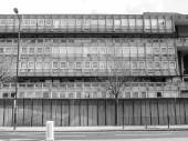 Black and white Robin Hood Gardens London — Stock Photo