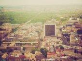 Retro look Berlin aerial view — Stock Photo