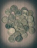 Retro look Euro coins — Stock Photo