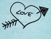 Herz der liebe — Stockfoto
