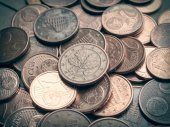 Retro look Euro coins background — Foto de Stock