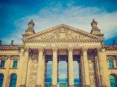 Retro look Reichstag Berlin — Стоковое фото