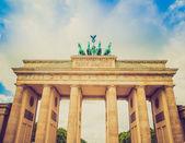 Retro look Brandenburger Tor Berlin — Foto Stock
