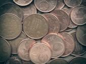 Retro look Euro coins background — Stock Photo