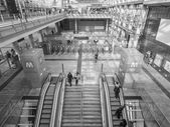 černé a bílé nádraží torino porta susa — Stock fotografie