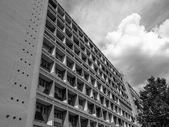 Black and white Corbusierhaus Berlin — Stock Photo