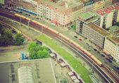 Widok z lotu ptaka stylu retro berlina — Zdjęcie stockowe