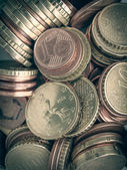 Fondo de monedas de euro de aspecto retro — Foto de Stock
