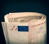 Nota euro look retro — Foto de Stock