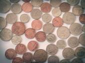 Retro look British pound coin — Foto de Stock