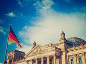Retro look Reichstag Berlin — Stockfoto