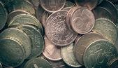 Retro-look-euro-münzen-hintergrund — Stockfoto