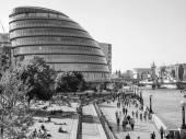 Black and white GLA City Hall London — Stock Photo