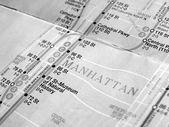 Black and white New York subway map — Stock Photo