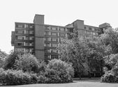 Black and white Hansaviertel in Berlin — Stockfoto