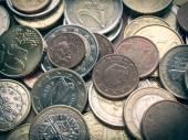 ретро смотреть монеты евро — Стоковое фото