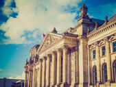 Retro look Reichstag Berlin — Stock Photo
