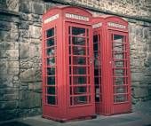 Retro look London telephone box — Stock Photo