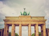 Retro look Brandenburger Tor Berlin — Stock Photo