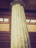 Retro look Bombed column in Berlin — Stock Photo